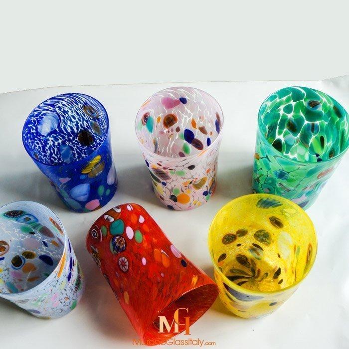 Murano Trinkglaser Bunt Online Kaufen Murano Glas