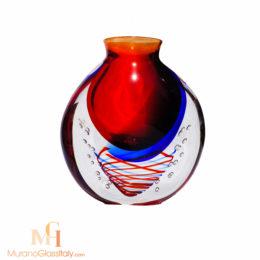 vase verre rond