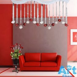 Lampadario in Cristallo Italiano con Rose