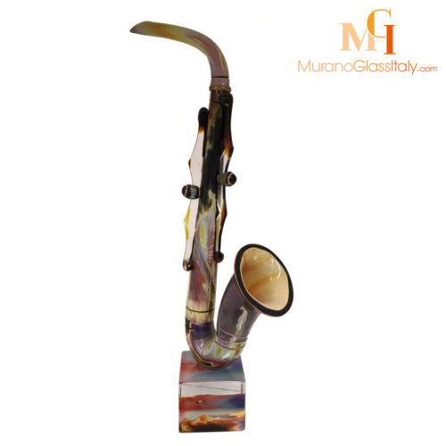 Glas Saxophon Skulptur