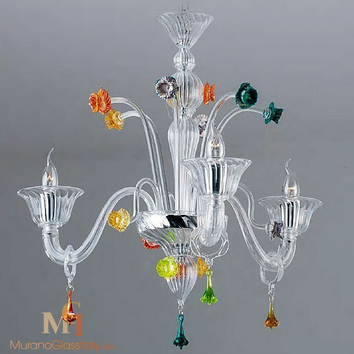 murano glass flower chandelier