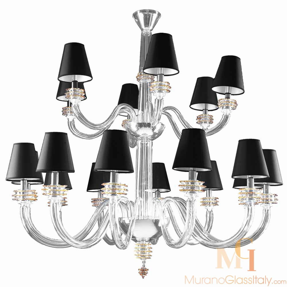 Murano Glass Candle Chandelier