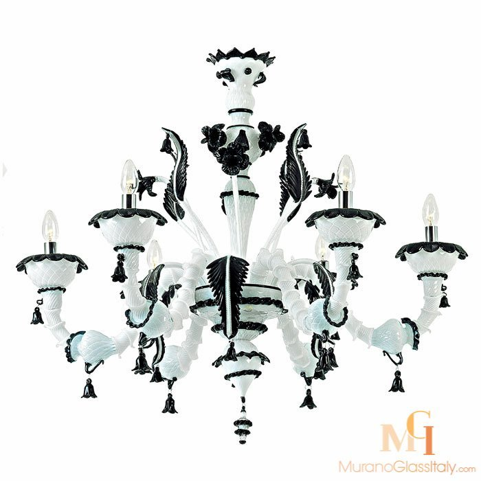 White & Black Murano Lighting