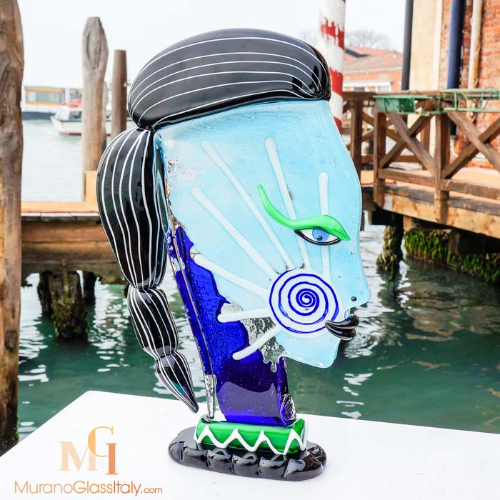 Murano Glass Face