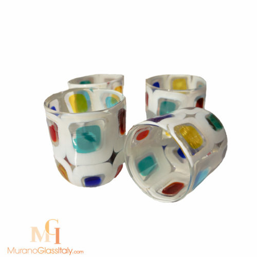 murano glass cups