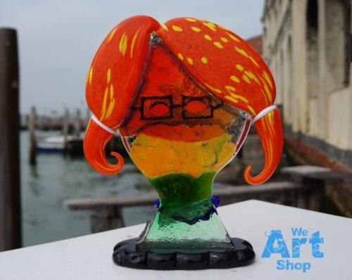 small glass sculpture