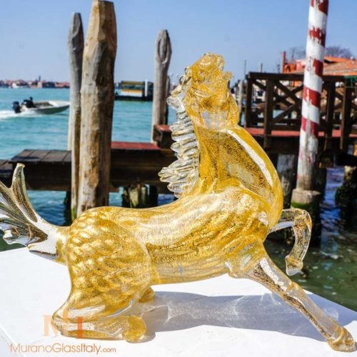 venetian glass horse