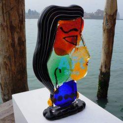 tall glass sculpture