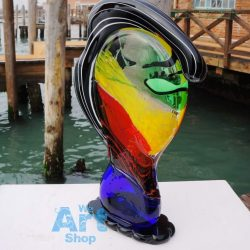 glass head sculpture