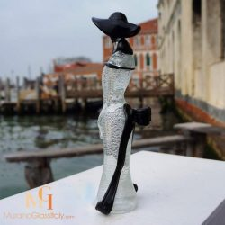murano glass lady figurine