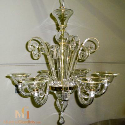 Silber- und Goldinfusion kronleuchter luxus