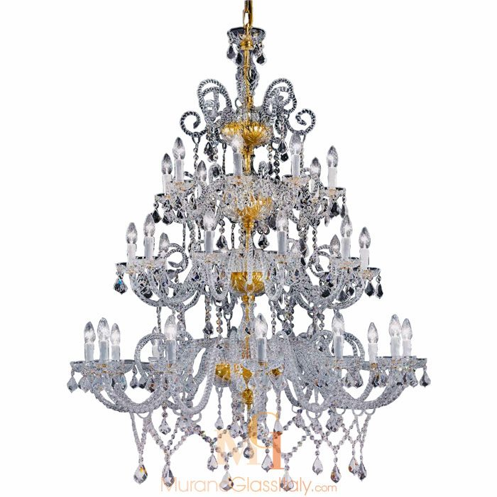 clear murano glass chandelier