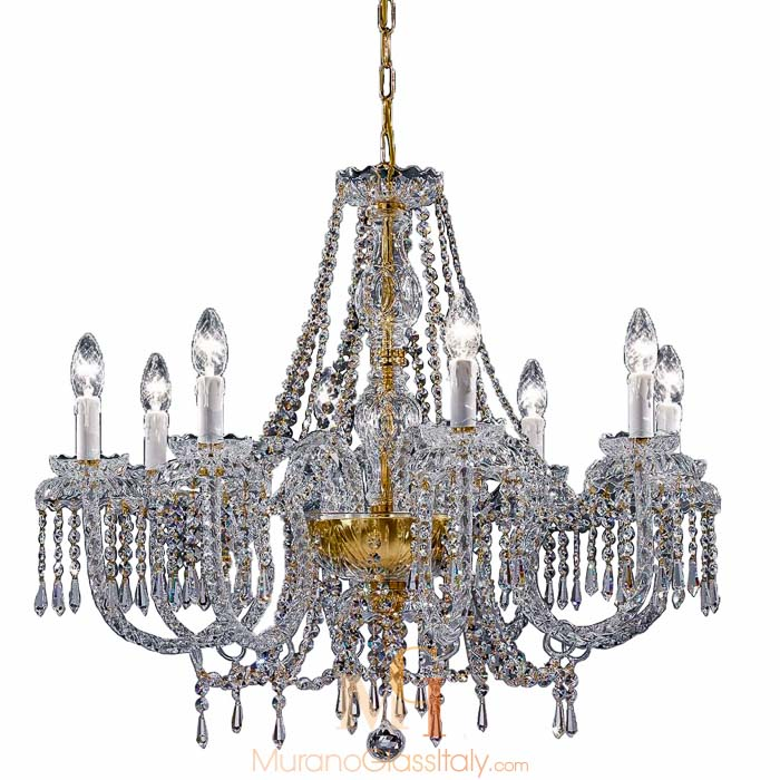 murano style glass chandelier