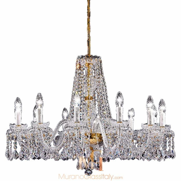 Murano style chandelier buy online official murano store calla round shaped murano style chandelier 8 arms 1 level aloadofball Choice Image