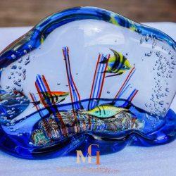 murano blue glass