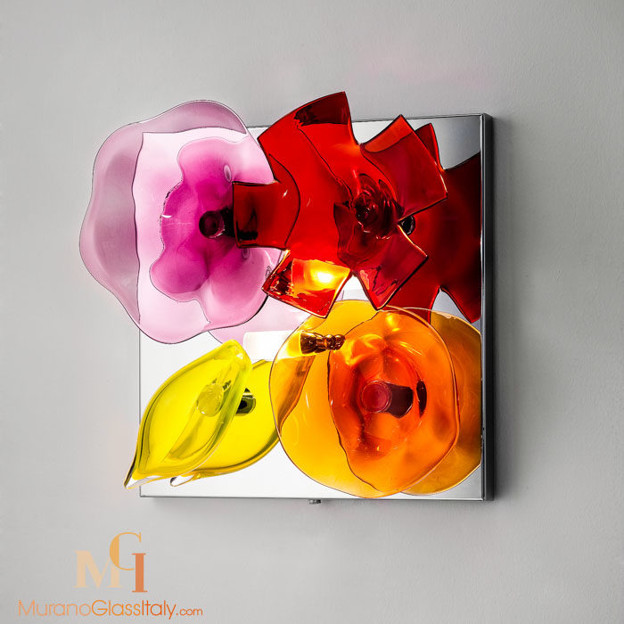 flower wall light