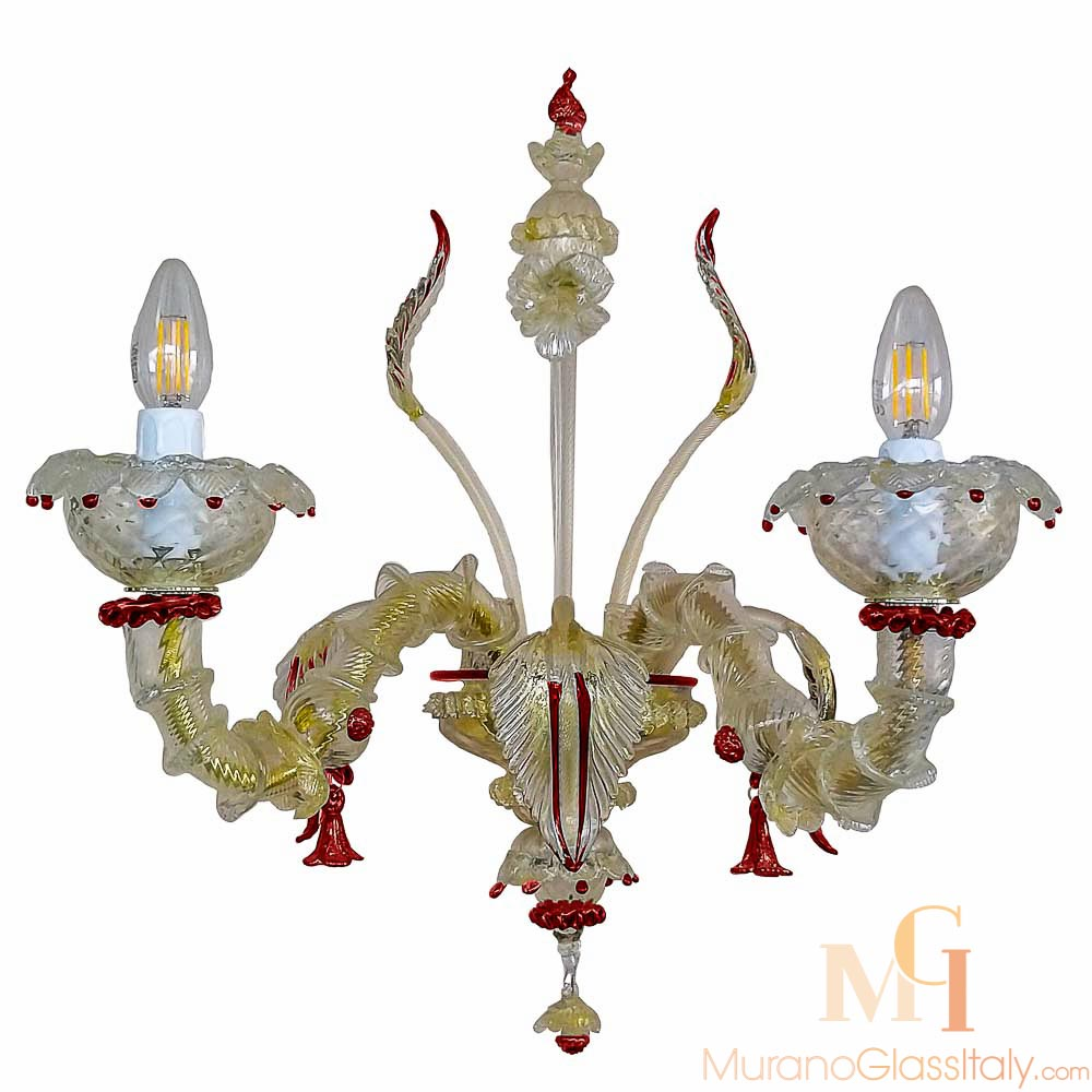 orchidea applique murale murano 4 lumi res. Black Bedroom Furniture Sets. Home Design Ideas