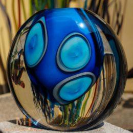 glasvase blau