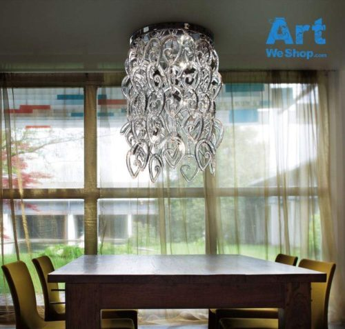 hanging glass chandelier