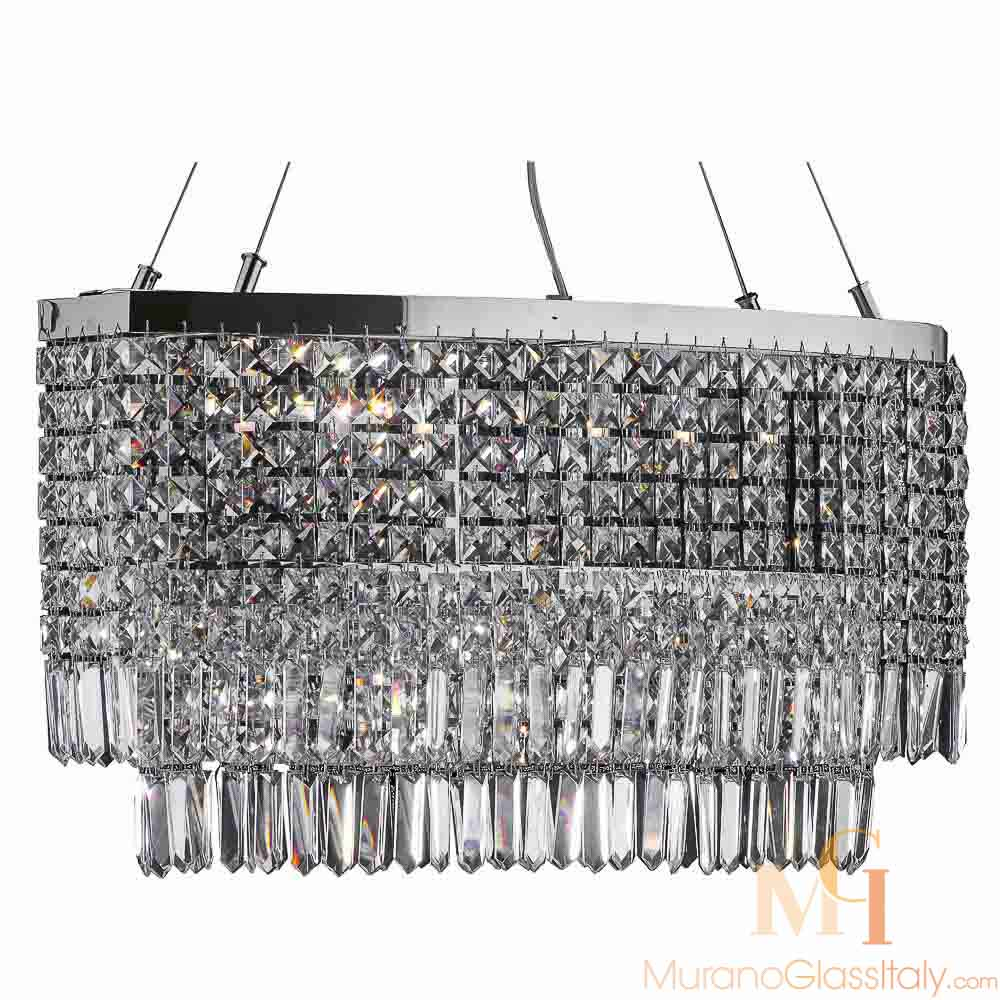 plafonnier lustre design moderne cristal
