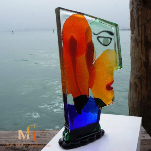 Picasso Style Glass Face