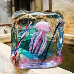 murano glass jellyfish