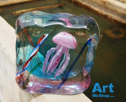 murano glass jellyfish