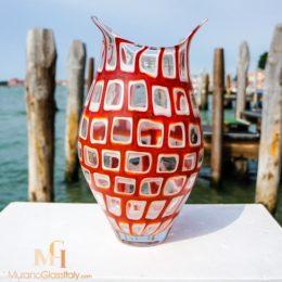 vase murano rouge