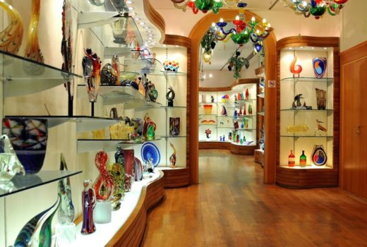 Murano Glass shop, photography by Dennis Jarvis.