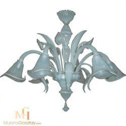 white glass chandelier