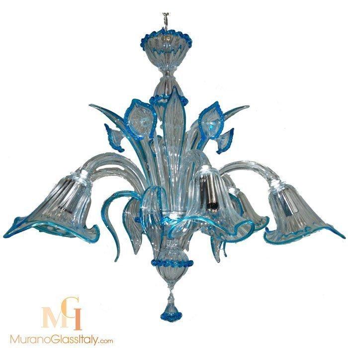 蓝色复古水晶吊灯