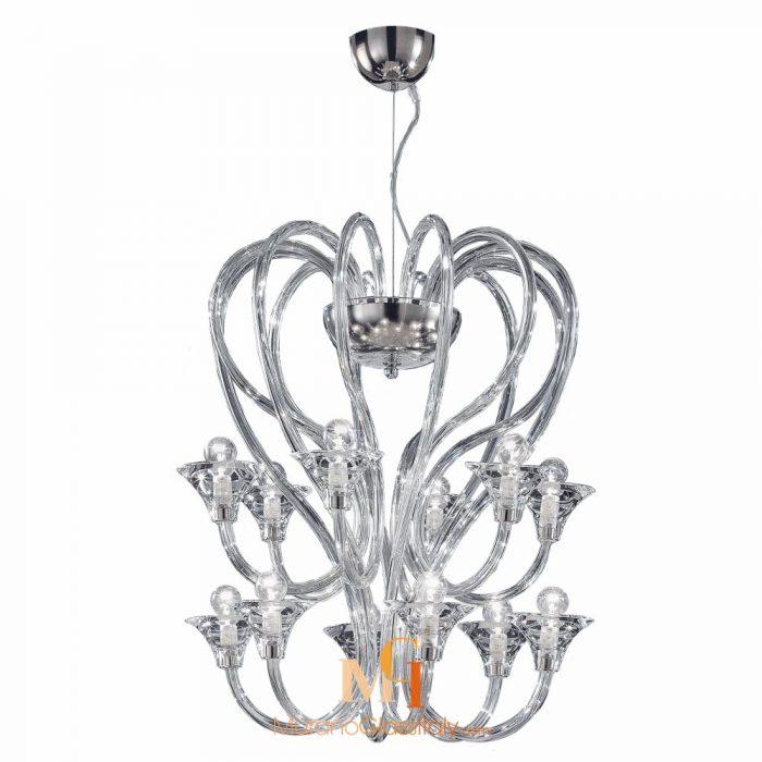 contemporary murano glass chandelier