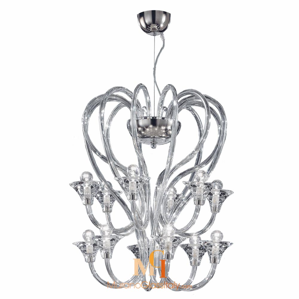 contemporary murano glass chandelier