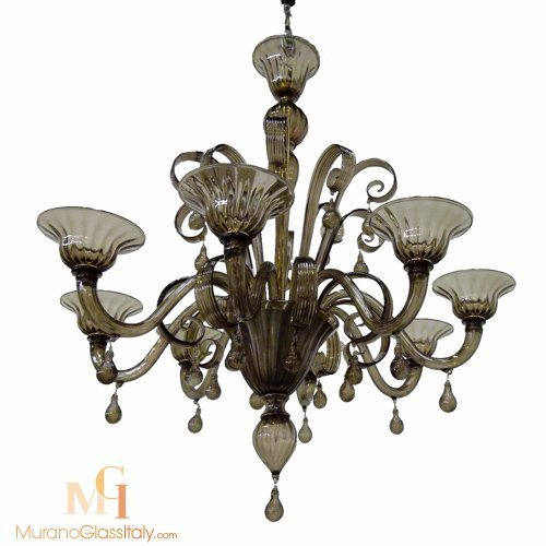 brown glass chandelier