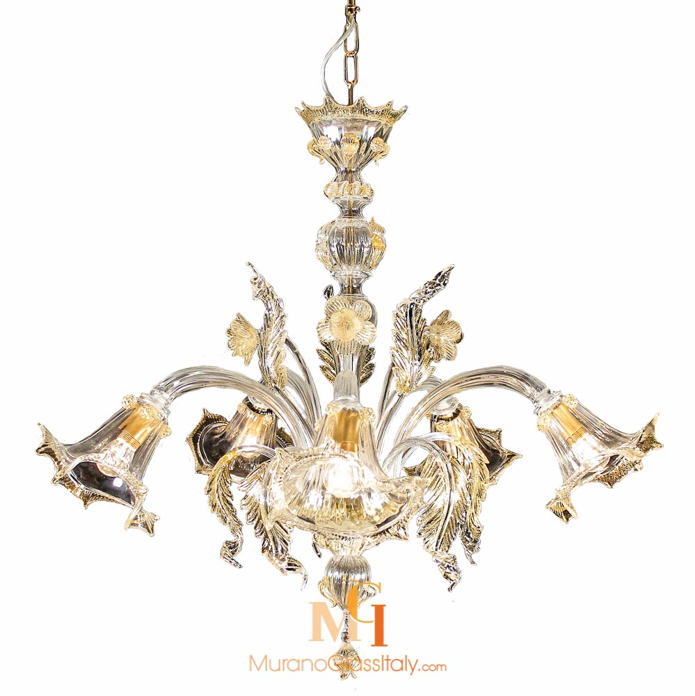 glass flower chandelier