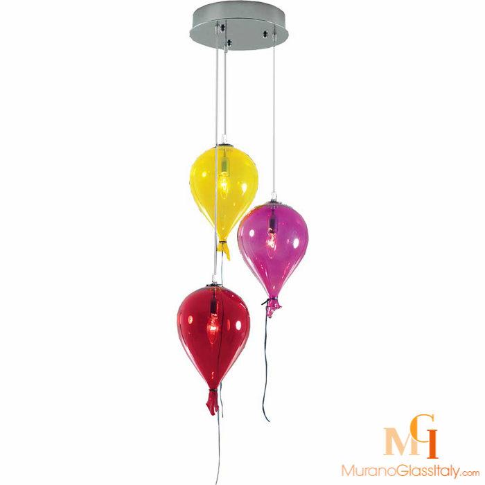 colored glass pendant lights