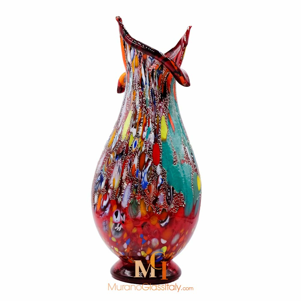 murano glass bud vase