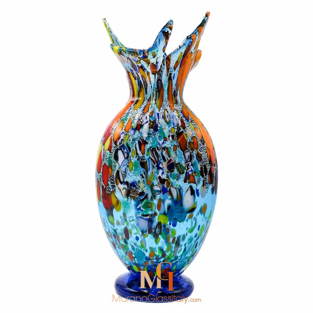 穆拉诺手工玻璃花瓶