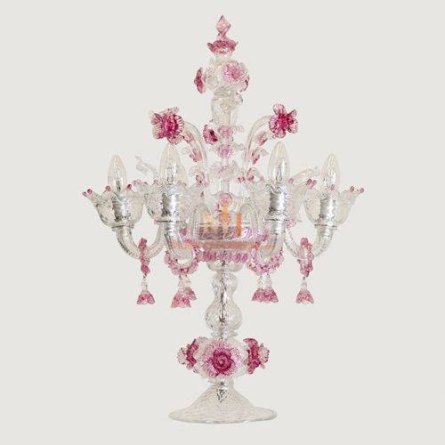 murano glass candelabra
