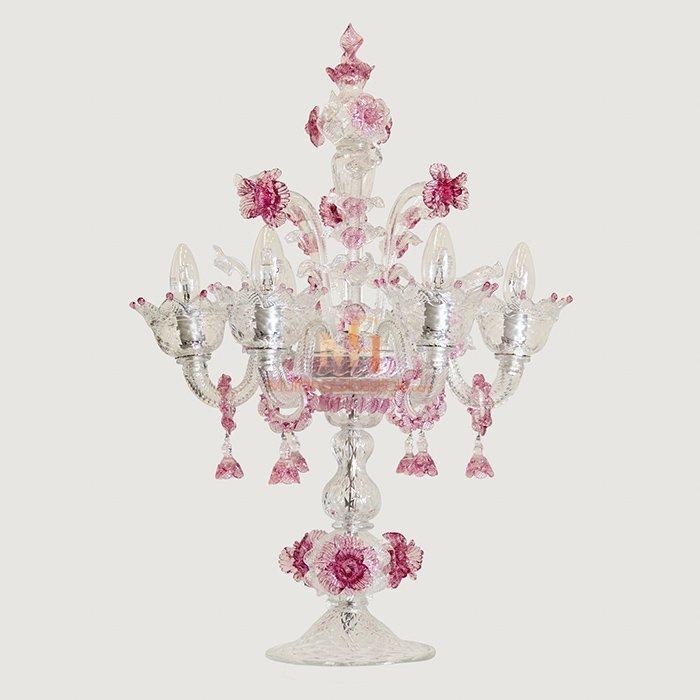 Luxury Venetian Crystal Glass Table Lamp
