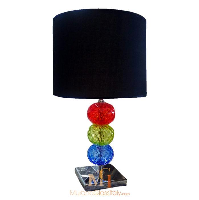 Colorful Italian Crystal Glass Lamp