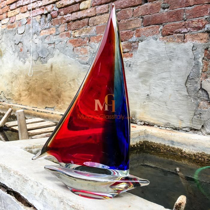 murano glass sailboat