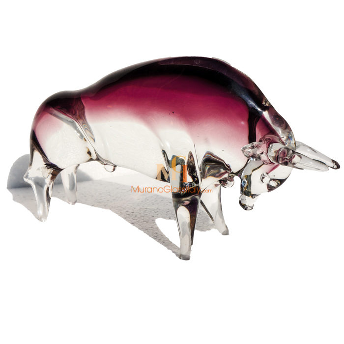 手工玻璃牛摆件