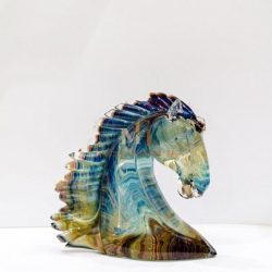 水晶玻璃马头