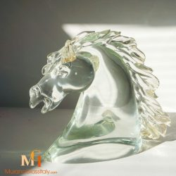 sculpture cheval verre soufflé