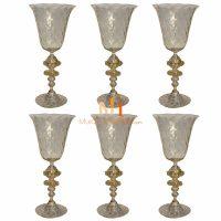 murano glass wine glasses