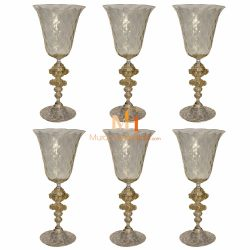 murano glass wine glasses