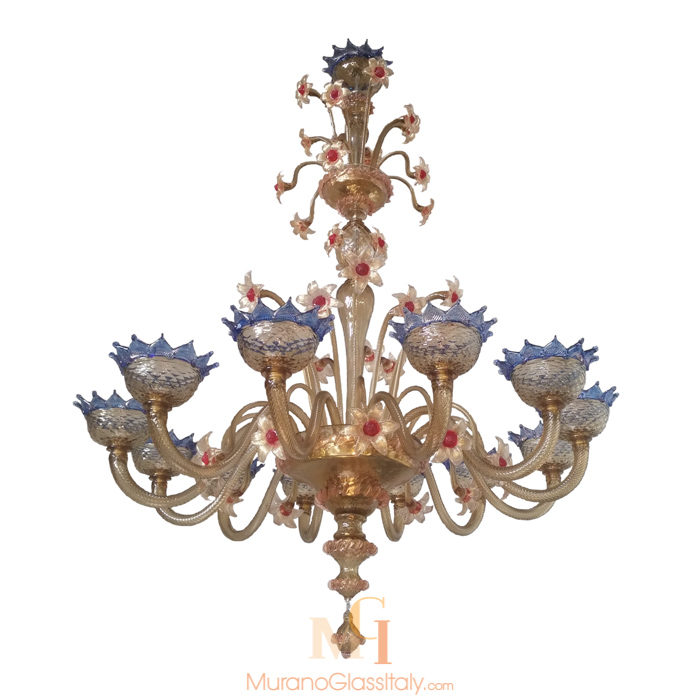 art glass chandeliers