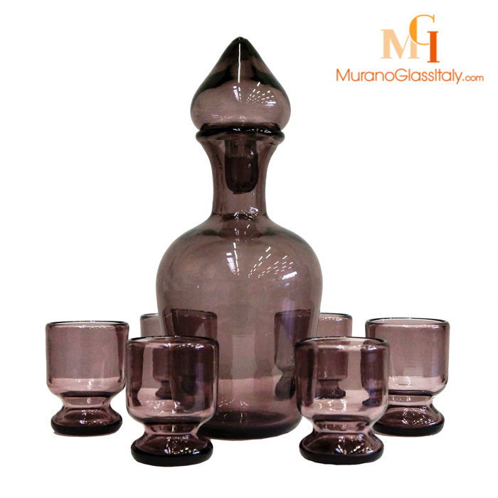 murano glass decanter set