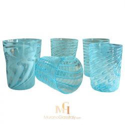 murano glass water tumblers